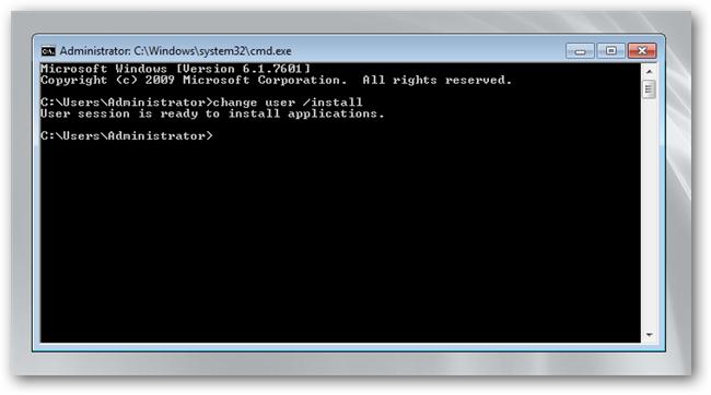cmd user install