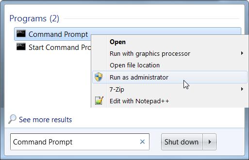 command promot run as