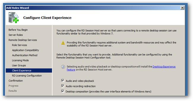 configure client experience