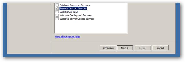 install remote desktop services