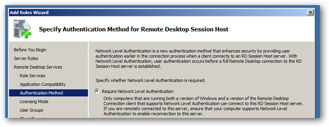 specify authentication method