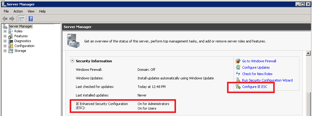 How to Enable and Disable IE Ehanced Security on Server 2008_2